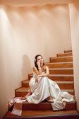 Tired bride — Stock Photo