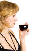The drink of wine kindles your desire — Stock Photo