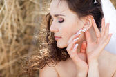 Bride with ear-ring — Stock Photo