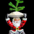 SantClaus and Christmas tree — Stock Photo #37909039