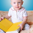 Stock Photo: Baby and book