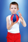 Boy with a ball — Stock Photo