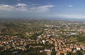 San Marino panorama Borgo Maggiore. — Stock Photo