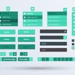 UI set the flat design trend. — Stock Vector
