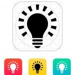 More light icon. Vector illustration. — Stock Vector