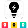 Electric light icon. Vector illustration. — Stock Vector