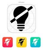 Disabled bulb icon. Vector illustration. — Stock Vector
