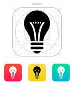 Glödlampa ikon. vektor illustration. — Stockvektor