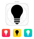 Light bulb icon. Vector illustration. — Stock Vector