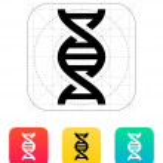 DNA icon. Vector illustration. — Stock Vector #31326861