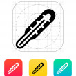 Medical thermometer icon. Vector illustration. — Cтоковый вектор