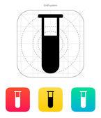 Medical test-tube icon. Vector illustration. — Stock Vector