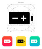 Polarity battery icon. Vector illustration. — Stock Vector