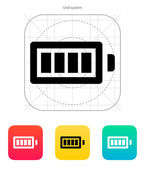 Full charge battery icon. Vector illustration. — Stock Vector