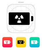 Atom battery icon. Vector illustration. — Stock Vector