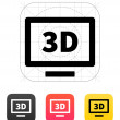 3D TV icon. Vector illustration. — Imagen vectorial
