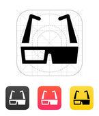 3D cinema glasses icon. Vector illustration. — Stock Vector