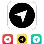 Pointer arrow icon. Vector illustration. — Stock Vector #31399985