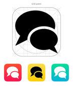Talk icon. Vector illustration. — Stock Vector