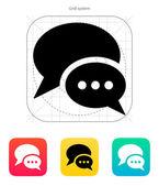 Dialogue bubble icon. Vector illustration. — Stock Vector