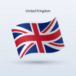 United Kingdom flag waving form. — Stock Vector