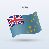 Tuvalu flagge winken form. vektor-illustration. — Stockvektor