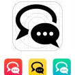 Dialogue bubble icon. Vector illustration. — Stock Vector