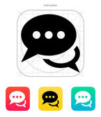 Messages icon. Vector illustration. — Stock Vector