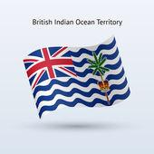 британская территория индийского океана флаг развевается формы. — Cтоковый вектор