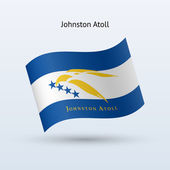 Johnston Atoll flag waving form. — Stock Vector