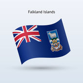 Falkland Islands flag waving form. — Stock Vector
