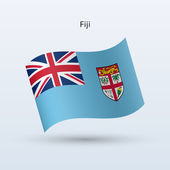 Fiji bandiera sventolante forma. illustrazione vettoriale. — Vettoriale Stock