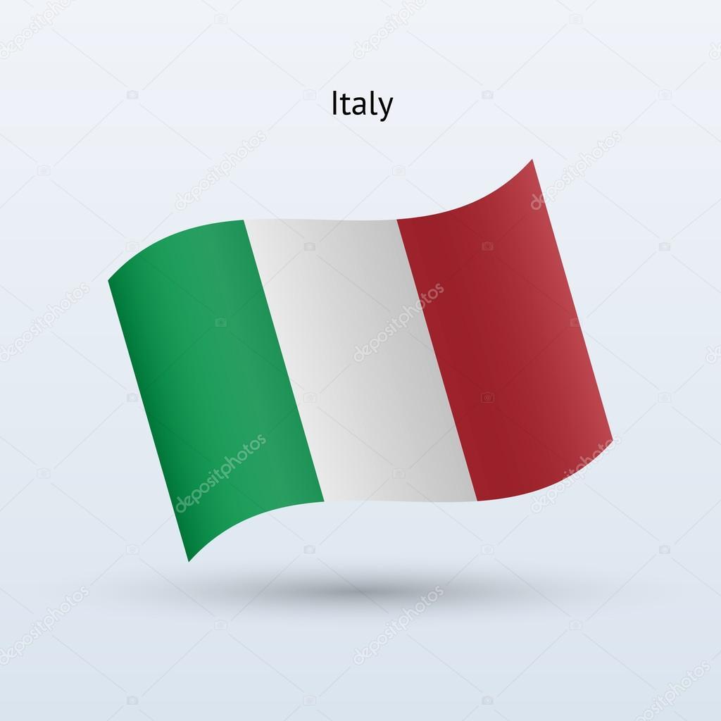 Image Gallery italian flag waving vector
