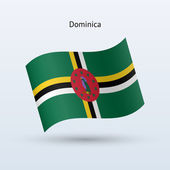 Dominica vlag zwaaien formulier. vectorillustratie. — Stockvector