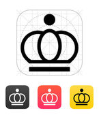 Crown icons. Vector illustration. — Stock Vector