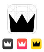 Crown King icons. Vector illustration. — Stock Vector