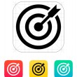 Stock Vector: Darts target aim icon. Successful shoot.