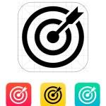 Darts target aim icon. Successful shoot. — Stock Vector