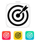 Darts target aim icon. Successful shoot. — Stock Vector