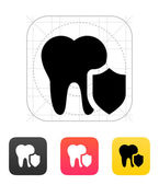 Protected tooth icon. — Stok Vektör