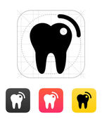 Tooth with caries icon. — Vettoriale Stock