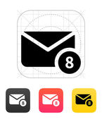 Mail with numbers icon. Vector illustration. — Stock Vector