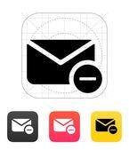 Rimuovere l'icona di mail. illustrazione vettoriale. — Vettoriale Stock