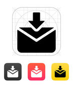 Incoming mails icon. Vector illustration. — Stock Vector