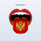 Montenegro language. Abstract human tongue. — Stock Vector