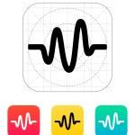 Sound wave icon. — Stock Vector