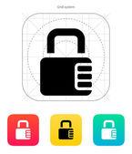 Lock with password icon. — Stock Vector