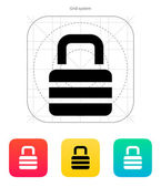 Padlock icon. — Stock Vector