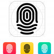 Fingerprint whorl type icon. — Stock Vector