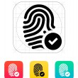 Stock Vector: Fingerprint accepted icon.